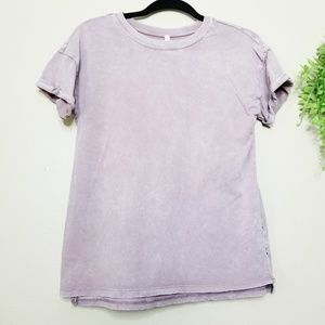 Z Supply | Mauve Distressed Pleat Back T-Shirt